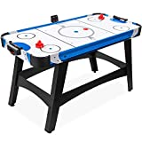 Best Choice Products 58in Mid-Size Arcade Style Air Hockey Table for Game Room, Home, Office w/ 2 Pucks, 2 Pushers, Digital LED Score Board, Powerful 12V Motor, Carrying Bag