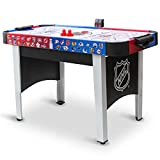 "48"" Mid-Size NHL Rush Indoor Hover Hockey Game Table; Easy Setup, Air-Powered Play with LED Scoring, Black"